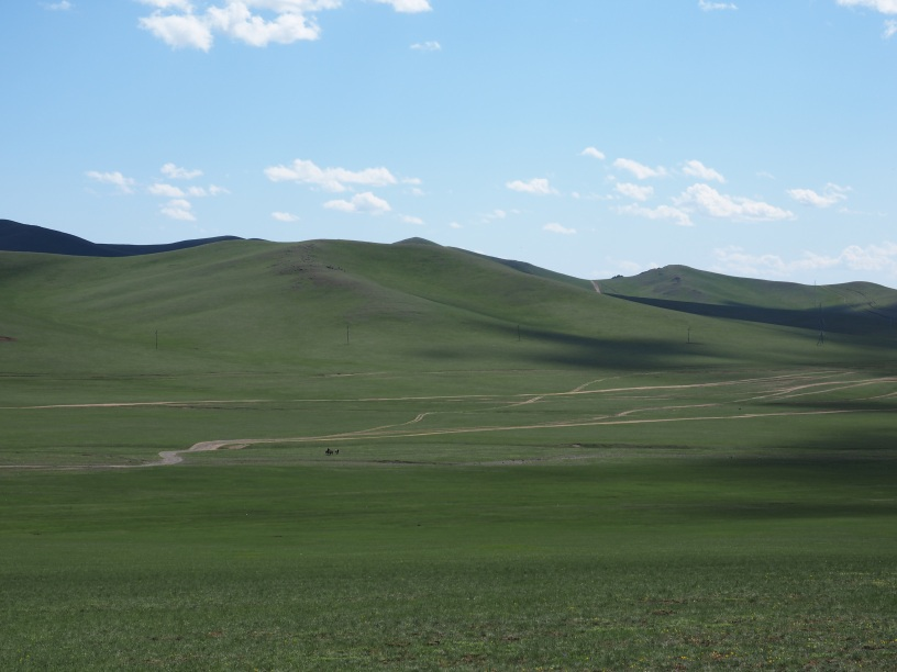 The vastness of the Mongolian steppe.